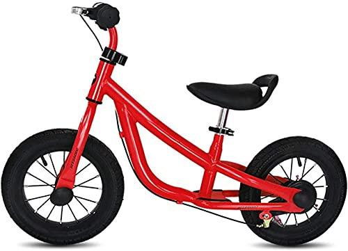 Bicicleta de equilibrio, bicicleta de equilibrio para niños pequeños con frenos, neumáticos de 12 pulgadas, bicicleta de entrenamiento para caminar para niños de 1,2,3,4,5 años, sin pedal, altura aj