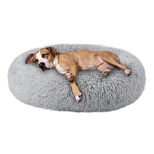 cuccia cane 40 kg Annety Cuccia Gatto Cuccia per Cani Gatto Rotondo Grande Letto Peluche Ultra-Morbido da Interno Animale Domestico