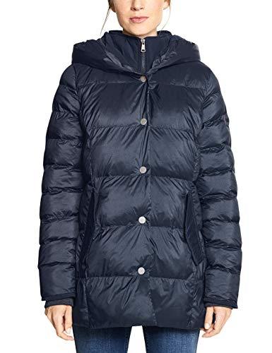 CECIL Damen 100532 Mantel, Blau (deep blue 10128), Small (Herstellergröße:S)