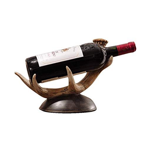 KANJJ-YU Estante del Vino Adornos de decoración Simple de la Personalidad Creativa Hecha a Mano Vino Estante Compacto y Estable Vino Rack Hogar Decoración Adornos Vino