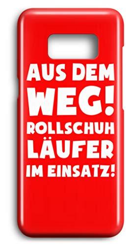 shirt-o-magic Handyhülle Rollschuhe: Rollschuhläufer im Einsatz! - Case -Samsung S8-Rubinrot