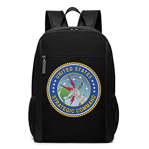 ZYWL United States Army Strategic Command Laptop Rucksack 17-Zoll-Reiserucksack Bookbag Bussiness Bag