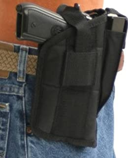 Pro-Tech Outdoors Nylon Belt or Clip on Gun Holster for FNX 9mm and .40 and 45 ACP with Laser