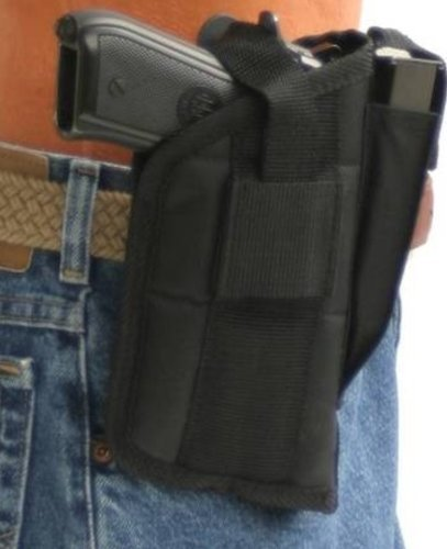 Nylon Belt or Clip on Gun Holster for FNX 9mm and .40 and 45 ACP with Laser