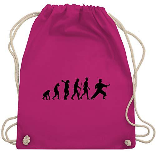 Evolution - Kampfsport Evolution - Unisize - Fuchsia - sporttasche karate - WM110 - Turnbeutel und Stoffbeutel aus Baumwolle