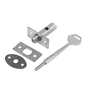 uxcell 42mm Length Fire Door Metal Hidden Manager Tubewell Mortise Lock Silver Tone W Key