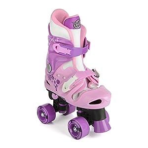 Xootz Quad Patines Ajustables y Acolchados para niña Rosa Rosa y Morado Talla:Size 3-5