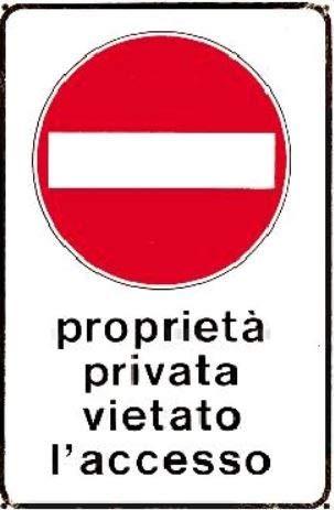 Cartelli segnaletici in alluminio Pubblicentro - proprieta' privata05401300
