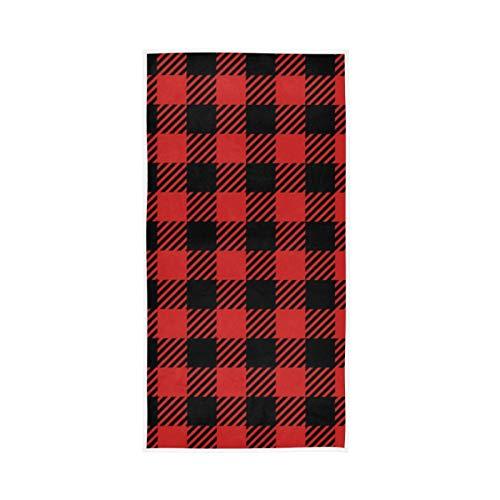 RURUTONG Paquete de 1 toalla de mano a cuadros de Buffalo suave de secado rápido para cocina, natación, spa, gimnasio, decoración 30 x 15 pulgadas 2010235