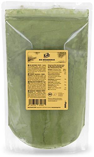KoRo - Bio Weizengraspulver 500 g - Erfrischend schmeckendes Superfood 100 % bio ohne künstliche Zusätze ideal für Smoothies