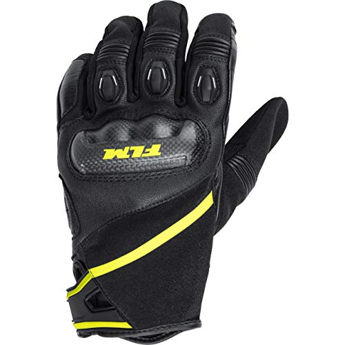 FLM Motorradhandschuhe kurz Motorrad Handschuh Sports Lederhandschuh 1.0 schwarz 9, Herren, Sportler, Ganzjährig