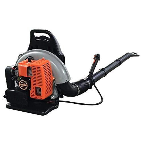 Soplador de hojas para la espalda, motor de gasolina, mochila, soplador de hojas, refrigerado por aire, soplador de jardín, 2 tiempos, 65 CCM