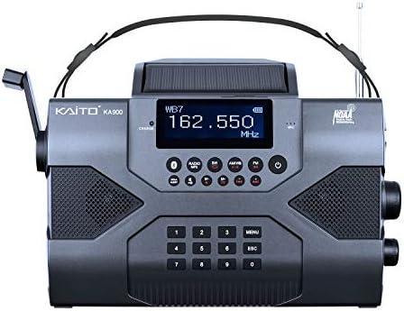 Kaito Emergency Radio Voyager Max KA900 Digital Solar Dynamo Crank Wind Up AM FM SW NOAA Weather product image
