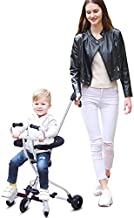 Arkmiido Portable Lightweight Travel Stroller with Brake and Safety System for Toddler Baby (White, 2-8 Years)