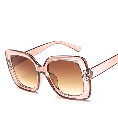 AMFG Gafas De Sol Retro De Hombres Y Mujeres Tendencia De Tendencia Tiro Gratis Sombrilla Al Aire Libre Gafas De Sol De Marco Grande (Color : A)
