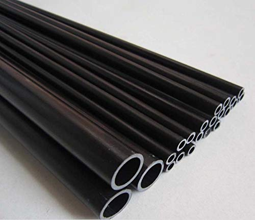 New Part & Accessories 12mm(OD)10mm(ID)1000mm black carbon fiber pultrusion tube - (Color: 12.7X10)