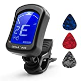 Guitar Tuner,Tuner, Guitar Tuner Clip On for Guitar, Ukulele, Violin, Viola, Bass, Chromatic Tuning Modes, 360 Degree Rotating, Fast & Accurate