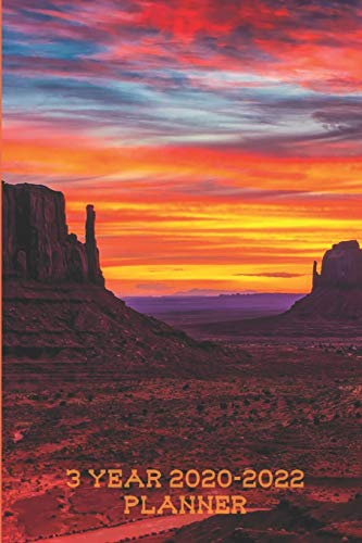 Beautiful Arizona 3 Year 2020-2022 Planner: Compact and Convenient 3 Year 2020-2022 Planner