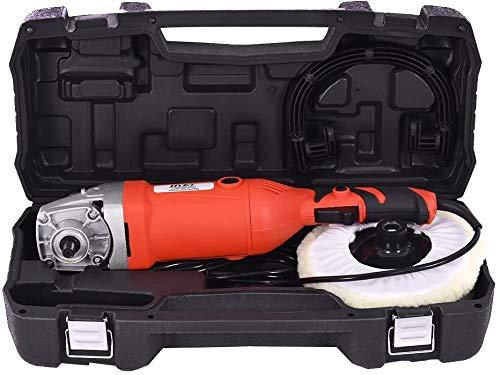 RELAX4LIFE Poliermaschine mit 6 Stufen variabler Geschwindigkeit, 1000 – 3000 U/min, Poliergerät Set mit Zubehör, ideal zum Polieren von Auto, Böden, Sofas, Schränken, 1500 W, 230 V / 50 Hz