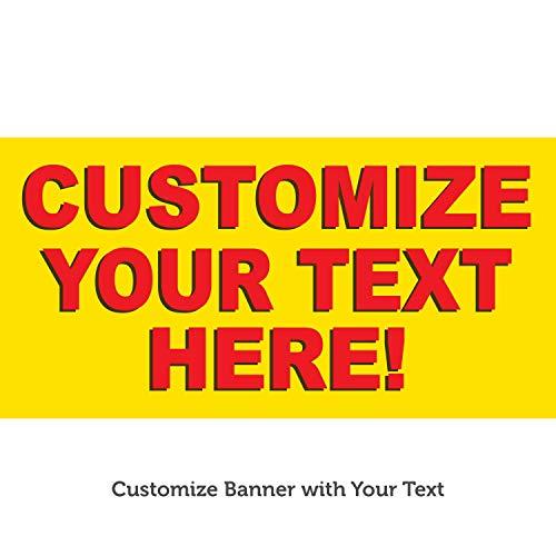 HALF PRICE BANNERS | Custom Business Vinyl Banner-Indoor/Outdoor 2X6 Foot-Solid | Includes Zip Ties | Easy Hang Sign-Made in USA