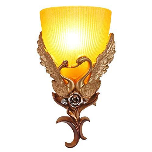 EU E27 wandlamp retro hars LED wandlamp bedlampje melkglas creatieve woonkamer wandlamp vloerlamp wandlamp wandlamp