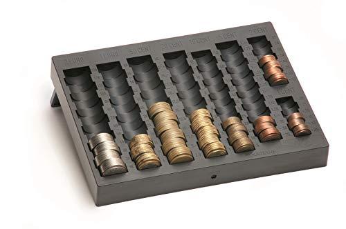 Geldzählkasse AKA 7 mit ausklappbaren Füßen für EURO-Münzen