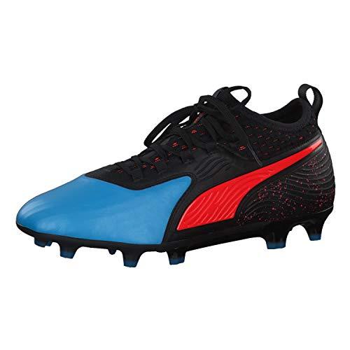 Puma One 19.2 Fg/AG, Scarpe da Calcio Uomo, Blu (Bleu Azur-Red Blast Black 1), 40.5 EU
