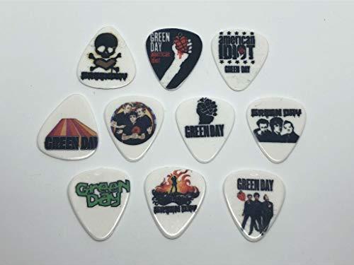 Green Day Gitarrenplektren (10 Plektren / 10 verschiedene Designs)