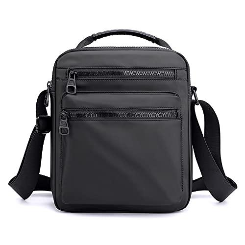 CHIFEI Bolso Hombro Negocio Viaje Bolsa Casual Mano Cruzada Laptop Mensajero Hombre (Negro)
