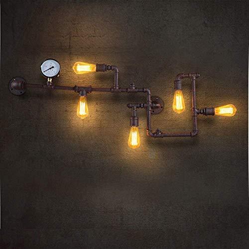 YINGGEXU Lámpara de Pared de Lámpara de Pared lámpara de Pared del Tubo de Metal Retro Vivir Cafe Bar Comedor Decorativo