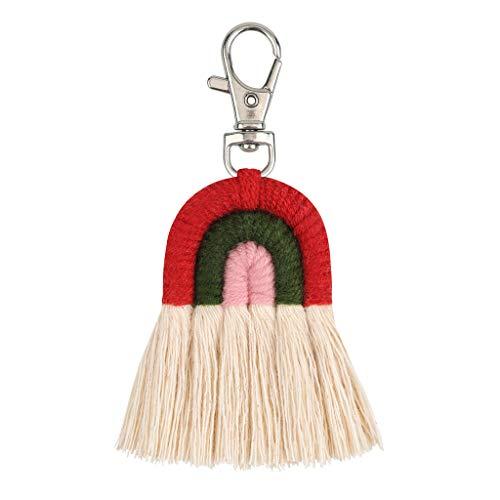 Llavero con diseño de arco iris, ideal como regalo para la familia