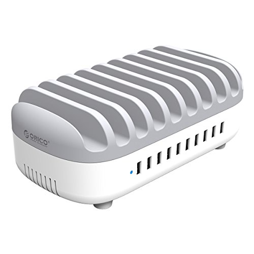 ORICO 120W Estación de Carga USB con 10 Puertos, USB Multi-Cargador...