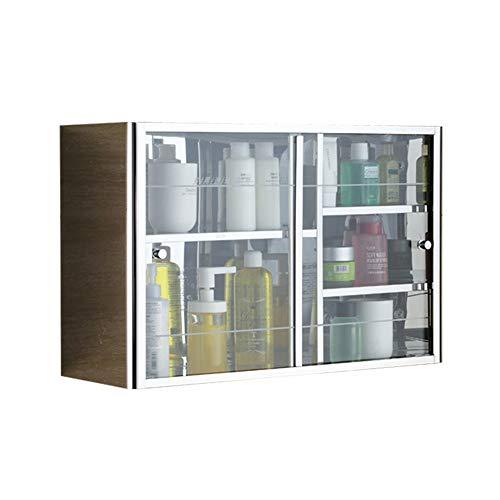 Armadio di Stoccaggio Cuarto de baño Gabinete de pared, sobre el inodoro for ahorrar espacio de almacenamiento del gabinete de cocina Botiquín Armario ( Color : Transparent glass , Size : 60x38x20cm )