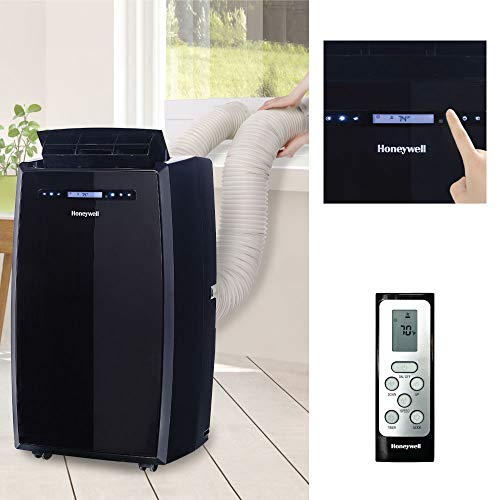 Honeywell (Black MN14CCDBB Dual Hose Portable Air Conditioner with Dehumidifier, Fan Cools Rooms Up to 550 Sq.ft with Advanced LCD Display
