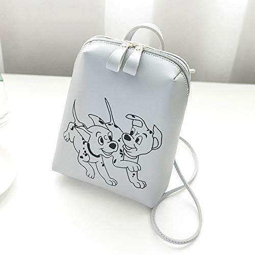 Great Features Of QGT Bags Ladies Simple Printed Cute Dog Pattern Laptop Shoulder Bag Backpackage (C...