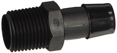 Eldon James A8-10BN Black Nylon Adapter Fitting, 1/2-14 NPT to 5/8