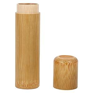 Qiterr Tube de Bambou de Style rétro - Boîtes à thé polies givrées portatives - Tube d'encens
