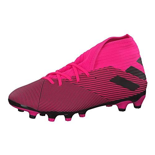 Adidas Nemeziz 19.3 MG, Botas de fútbol Unisex Adulto, Multicolor (Shock Pink/Core Black/Shock Pink Shock Pink/Core Black/Shock Pink), 45 1/3 EU