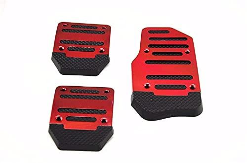 Pedal de Freno Pedal de Caja de Cambios de Coche Auto Antideslizante Acelerador Accesorios de Freno para Fiat Punto Palio Uno Idea Bravo Sedici Grande Cubierta de Pedal (Nombre del Color: Rojo) útil