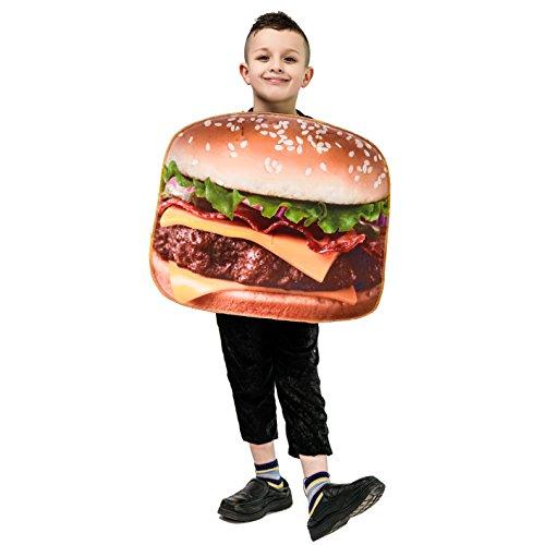 SEA HARE Unisex 3D Digital Printing Child Hamburger Costume Taglia Unica
