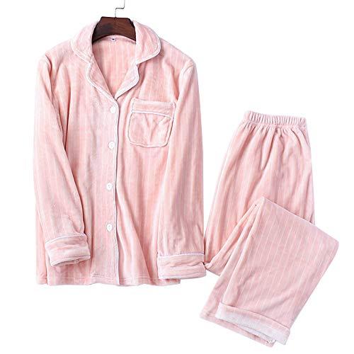 パジャマ ルームウェア レディース モコモコ 夫婦 前開き 衿付き 上下セット 長袖 ロングパンツ 部屋著 ペアルック 寢巻き 暖かい 可愛い 春秋冬