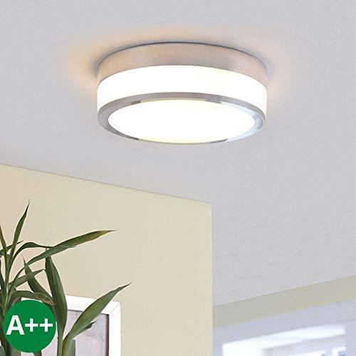 Lindby Deckenlampe 'Flavi' dimmbar (spritzwassergeschützt) (Modern) in Weiß aus Glas u.a. für Badezimmer (2 flammig, E27, A++) - Bad Deckenleuchte, Lampe, Badezimmerleuchte