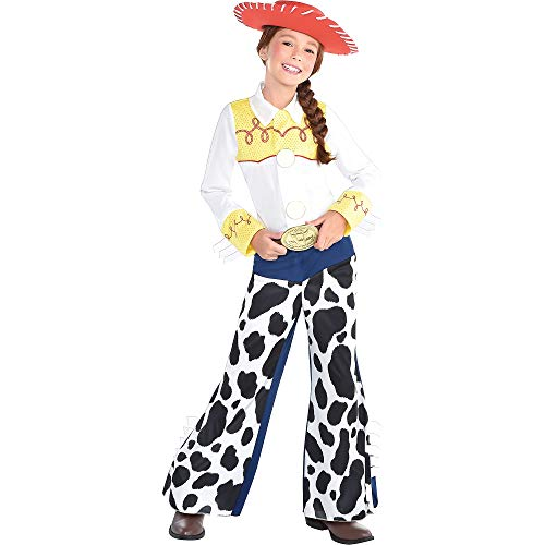 Suit Yourself Toy Story Jessie Halloween Costume for Toddler Girls, 3-4T, Includes Jumpsuit, Hat and Attached Belt