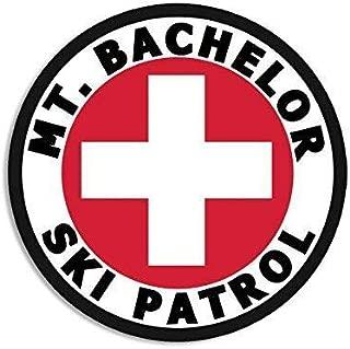 Magnet 4x4 inch Round MT Bachelor SKI Patrol Sticker (or Oregon Mount Snow) Magnetic Magnet Vinyl Sticker