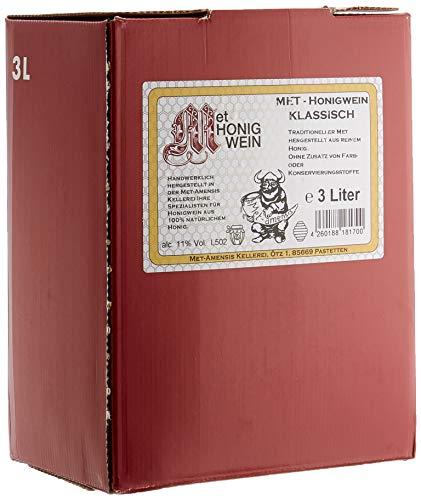 MET Amensis Original MET - Honigwein klassisch lieblich, traditionell, Bag-in-Box Weinkarton (1 x 3 l)