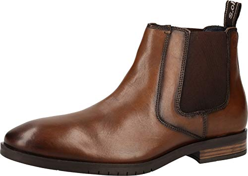 s.Oliver 5-5-15303-23 Herren Stiefelette Cognac Leather, EU 42