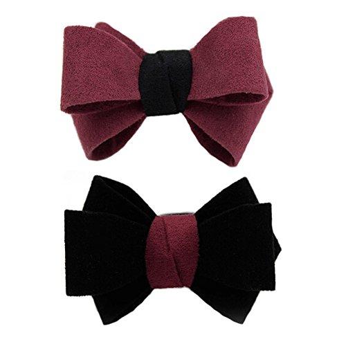 Rubber Band Fille/Corde Femmes Big bowknot cheveux Anneau cheveux, Rouge/Noir