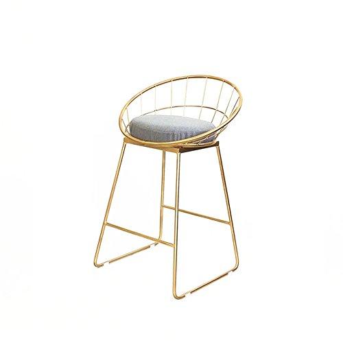 DNSJB Chaise de Dossier de Barre de Fer forgé Nordique, Tabouret Haut de Mode Moderne Minimaliste créatif café décontracté de Mode (Size : 42 * 44 * 85CM)
