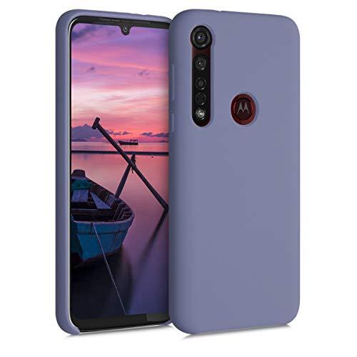 kwmobile Hülle kompatibel mit Motorola Moto G8 Plus - Hülle Handyhülle gummiert - Handy Hülle in Lavendelgrau