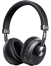 Bluetooth Headphones with Microphone, Zime Ranger Noise Cancelling Headphones Deep Bass Wireless Headphones Over Ear Headset 20H Playtime for Travel Office Home Gaming